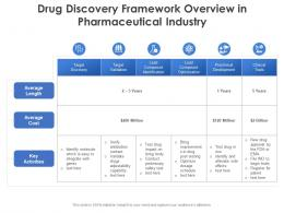 Drug Discovery Framework Overview In Pharmaceutical Industry