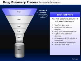 Drug Discovery Process Research Genomics Powerpoint Slides And Ppt Templates DB