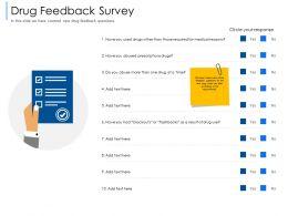 Drug Feedback Survey Flashbacks Ppt Powerpoint Presentation Pictures Slides