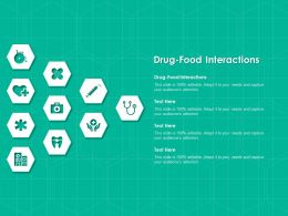 Drug Food Interactions Ppt Powerpoint Presentation File Sample