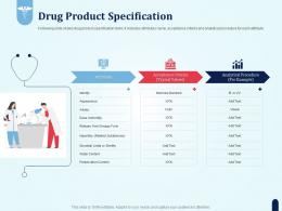 Drug Product Specification Pharmaceutical Development New Medicine Ppt Layouts Grid