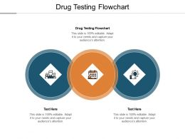 Drug Testing Flowchart Ppt Powerpoint Presentation Professional Objects Cpb