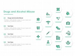 Drugs And Alcohol Misuse Ppt Powerpoint Presentation Outline Infographic Template