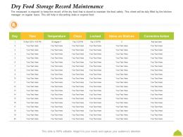 Dry Food Storage Record Maintenance M2429 Ppt Powerpoint Presentation Styles Demonstration