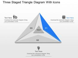 Ds Three Staged Triangle Diagram With Icons Powerpoint Template