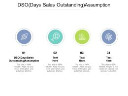 DSO Days Sales Outstanding Assumption Ppt Powerpoint Presentation Gallery Templates Cpb