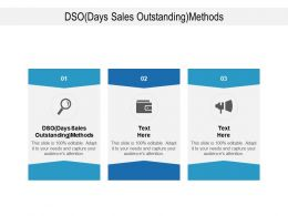 DSO Days Sales Outstanding Methods Ppt Powerpoint Presentation Show Infographics Cpb