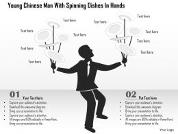 Dt Young Chinese Man With Spinning Dishes In Hands Powerpoint Template