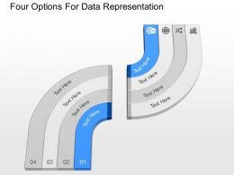du Four Options For Data Representation Powerpoint Template
