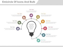 du Nine Staged Semicircle Of Icons And Bulb Flat Powerpoint Design
