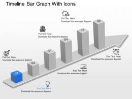 Du Timeline Bar Graph With Icons Powerpoint Template