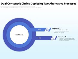 Dual Concentric Circles Depicting Two Alternative Processes