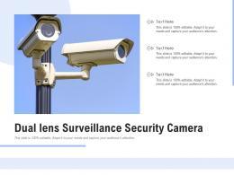 Dual Lens Surveillance Security Camera