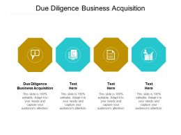 Due Diligence Business Acquisition Ppt Powerpoint Presentation Icon Styles Cpb