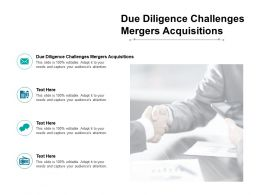 Due Diligence Challenges Mergers Acquisitions Ppt Powerpoint Presentation Ideas Infographic Cpb
