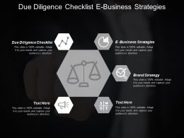 Due Diligence Checklist E Business Strategies Brand Strategy Cpb