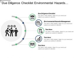 Due Diligence Checklist Environmental Hazards Management Marketing Plan Cpb