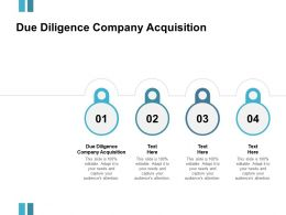 Due Diligence Company Acquisition Ppt Powerpoint Presentation Model Templates Cpb