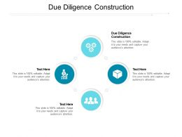 Due Diligence Construction Ppt Powerpoint Presentation Portfolio Master Slide Cpb