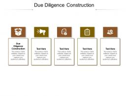 Due Diligence Construction Ppt Powerpoint Presentation Styles Layout Ideas Cpb