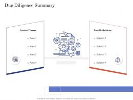 Due Diligence For Deal Execution Due Diligence Summary Ppt Guidelines
