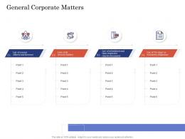 Due Diligence For Deal Execution General Corporate Matters Ppt Inspiration