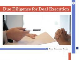 Due Diligence For Deal Execution Powerpoint Presentation Slides