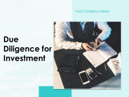 Due Diligence For Investment Powerpoint Presentation Slides