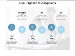 Due Diligence Investigations Ppt Powerpoint Presentation Icon Background Images Cpb
