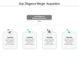 Due Diligence Merger Acquisition Ppt Powerpoint Presentation Infographics Cpb