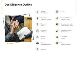 Due Diligence Outline Environmental Issues General Ppt Powerpoint Graphics
