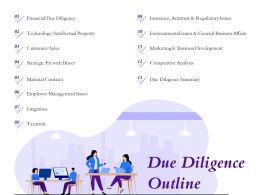 Due Diligence Outline Environmental Issues Ppt Powerpoint Presentation Show