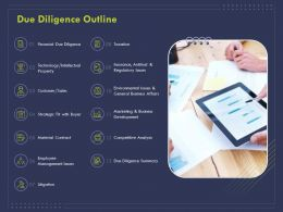 Due Diligence Outline Ppt Powerpoint Presentation Show Background Designs
