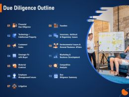 Due Diligence Outline Regulatory M955 Ppt Powerpoint Presentation Outline Styles