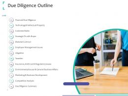 Due Diligence Outline Strategic Due Diligence Ppt Powerpoint Presentation Pictures
