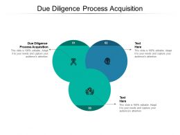 Due Diligence Process Acquisition Ppt Powerpoint Presentation Model Show Cpb