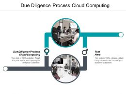 Due Diligence Process Cloud Computing Ppt Powerpoint Presentation Gallery Samples Cpb