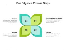 Due Diligence Process Steps Ppt Powerpoint Presentation Show Objects Cpb