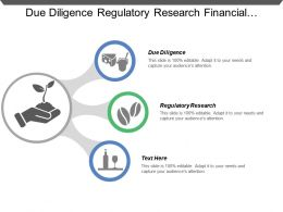Due Diligence Regulatory Research Financial Modeling Market Development Strategy