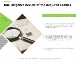 Due Diligence Review Of The Acquired Entities Big Data Analysis Powerpoint Slides