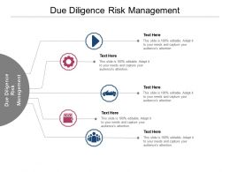 Due Diligence Risk Management Ppt Powerpoint Presentation Outline Sample Cpb