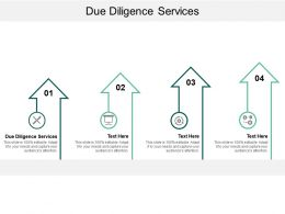 Due Diligence Services Ppt Powerpoint Presentation Icon Gallery Cpb