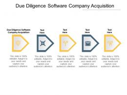 Due Diligence Software Company Acquisition Ppt Powerpoint Presentation Slides Example Introduction Cpb