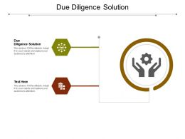 Due Diligence Solution Ppt Powerpoint Presentation Icon Guide Cpb