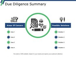 Due Diligence Summary Powerpoint Shapes