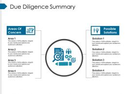 Due Diligence Summary Powerpoint Slide Background Picture