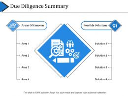 Due Diligence Summary Powerpoint Slide Show