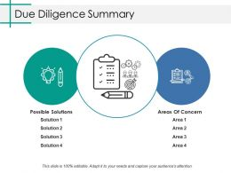 Due Diligence Summary Ppt Inspiration Influencers
