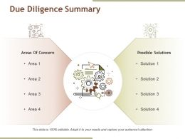 Due Diligence Summary Sample Of Ppt Presentation