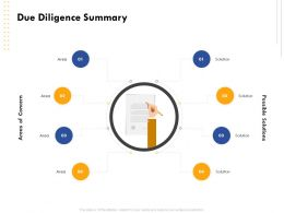 Due Diligence Summary Solution Area Ppt Powerpoint Presentation Tips